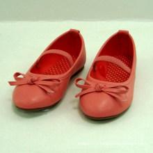 2014 as meninas à moda novas do verão da mola as sapatas vermelhas ou azuis da bailarina caçoam a princesa do partido caçoam sapatas lisas bonitas das crianças das crianças das sapatas