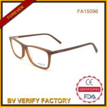La couleur mate acétate lunettes verre en Chine (FA15096)