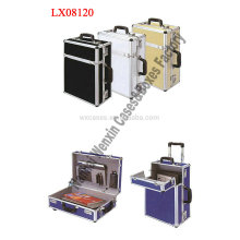 New arrival portable aluminum briefcase with wheels from China manufacturer high quality