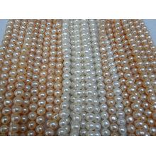 10-11mm Nearly Round / Potato Pearls (ES387)
