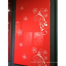 96 colores 4X8 hoja de acrílico del panel de 1m m para los cabientes de la cocina (zhuv)