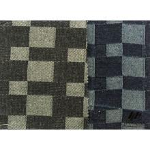 100% algodão jacquard cheque denim (u15360)