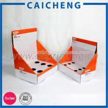 corrugated paper box with divider inside