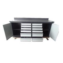 Top qualidade 12 gavetas de metal armário de ferramentas de garagem com 2 portas