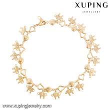 74620- Xuping Luck Elephant Bijoux Animal Bracelet en or en gros
