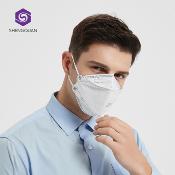 Meltblown Cloth Protective Safety KN95 Moda Mascarilla