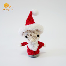 Decorazione per bambole di Santa Amigurumi in peluche all'uncinetto