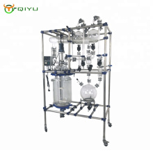 50L Chemical Double Wall Mixing Universal Glass Reactor System