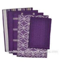 purple dish towels kitchen
