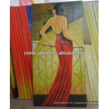 Nueva pintura al óleo atractiva de la mujer del diseño para la venta