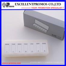 Boîte à pilules hebdomadaire de style simple pour la promotion (EP-017)