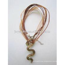 Nueva llegada Lampwork cristal colgante collar Lampwork vidrio collar colgante lámpara colgante con cera cuerda