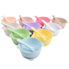 Kids Feeding Stay Put Girl Set Food Weaning Sucker Best Silicone Baby Suction Cup Bowls For Toddlers