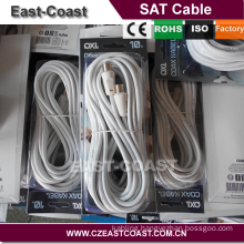 3C2V coaxial satellite cable 9.5mm male to male