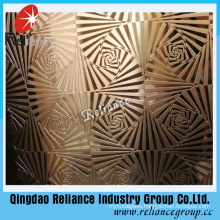 3-8mm Decorative Glass/Acid Etched Glass