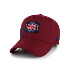 100% cotton burgundy quality baseball caps embroidery logo