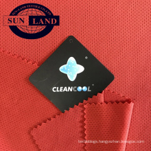 cleancool 100 polyester antibacterial and quick drying knitted single mesh fabric