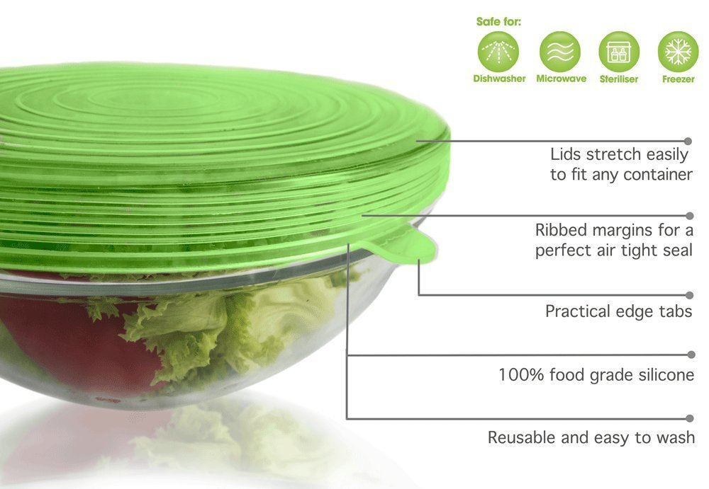 Best Selling Flexible High Stretch Food Grade Silicone Lid Set