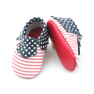 American Stars Stripes Baby Moccasins vers geplukt