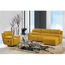 Canapé de salon avec canapé moderne en cuir véritable (449)