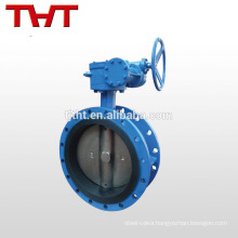 dn 150 rubber seat double flange butterfly valve