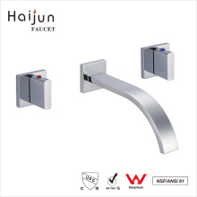 Haijun 2017 Mordern cUpc Wall Mount Bathroom Saving Water Brass Faucet