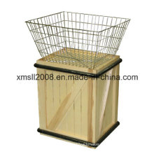 Basket of Values Merchandiser Wood and Metal