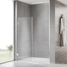 Seawin ODM Custom clear Glass Gold Brass Hinge Swing Open Shower Doors