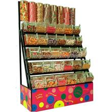 Metal Floor Stand Supermarket Equipment Dry Seafood Display Case Acrylic Chocolate Display Cabinet