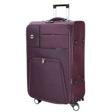 Soft Polyester Built-in Trolley Travel Luggage