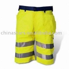 100% poliéster de alta visibilidade calças de segurança reflexiva