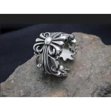 Doigt Anneaux Cross Hollow Rings Titanium Steel Mode Unisexe