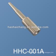 Pernos terminales del conector de acero niquelado CNC del torno del CNC del fabricante, pasadores de espiga