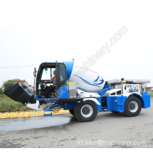 truk mixer beton bergerak self loading