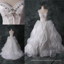 Ball Diamond Princess Floor Length Wedding Dress Bridal Gown F2159