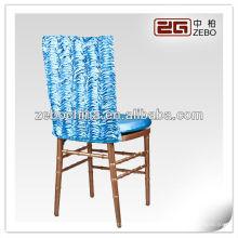 Modische verschiedene Farben vorhandene kundenspezifische Großhandelshochzeit blaue Stuhlabdeckung