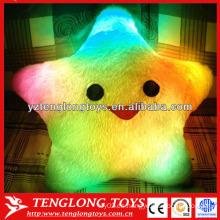 2015 Almohadilla luminosa llevada brillante colorida de la almohadilla de la estrella LED de la venta