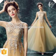 Sequin Long Golden Vestidos de noite 2016 New Arrival Women Elegant Long Golden Vestido formal de vestidos formal