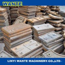 Hohe Mangan Stahl Brecher Teile Kiefer Platte aus China Top 3 Marken Herstellung