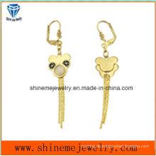 Modeschmuck Gold vergoldeter Edelstahl Eardrop Ohrring (ERS7002)