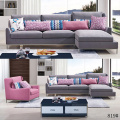 Recliner Sheeper Metal Legs Fabric Sectional Sofa