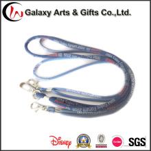 Logotipo personalizado tecido poliéster cabo corda corda para cartão