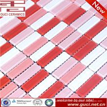 Made in China Rosa Mixed Kristallglas Mosaikfliesen für Schlafzimmer Design