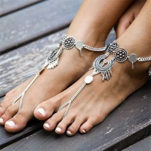 Barefoot Sandals womens Beach anklets starfish Bracelet Chain Wedding foot jewelry party accessories