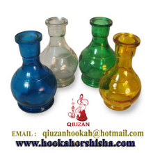 Transparent Colored Glass Shisha Vase Hookah Bottle