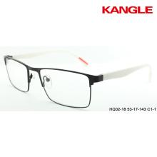 Marcos ópticos metálicos con anteojos TR90 anteojos listos para gafas