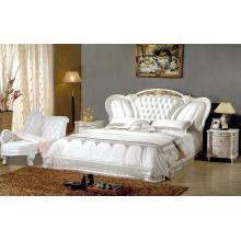 Новый классический серебряный цвет кожаная кровать (8083)