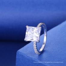 dames fantaisie accessoires carrés pierres précieuses bagues de fiançailles modèle