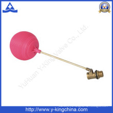 Поплавковый шаровой кран с красным пластиковым шариком (YD-3015)