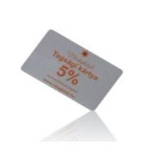 Tarjeta al por menor / tarjeta de compras para tienda de ropa / farmacia
